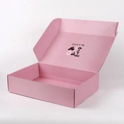 クラフト紙の物質的な色刷折る波形ボックス郵便利用者