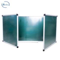100x300cm prontuário dobrável, Dobrar Green Chalk Board em sala de aula dupla prontuário