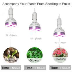 LED는 실내 꽃 야채를 위한 전구 120W E27 플랜트 성장하고 있는 램프를 증가한다