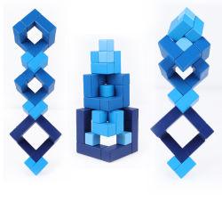 高品質のメープルウッドカラフルクラシックキュービッククリエイティブブロックキッズ 教育木おもちゃ