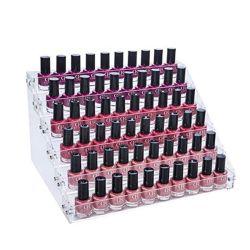 6 Schichten Acryl Nagellack Organizer 72 Flaschen Acryl Display Regalhalterung