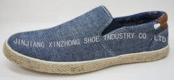 2020 Jeans-Sport-Schuh-beiläufige Turnschuh-Schuhe der Form-Männer mit Denim-Hanf-Seil-Keil