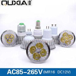 GU10 MR16 Gu5.3 E27アルミニウムLEDのスポットライト4W 5W AC85-265V DC12V