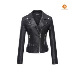 Shangyan Tanming женских фо кожаные Мото Biker короткое замыкание покрыть куртка