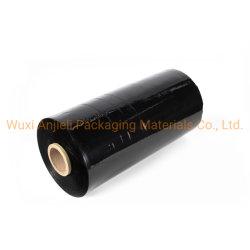غشاء تغليف أسود 50 سم LLDPE تمديد، غشاء مغلف الدرج غشاء أسود، تغليف بلاستيكي