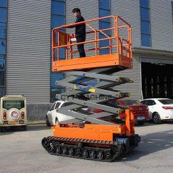 DC 電源 6m トラック自走式シザーリフト使用 CE ISO 認証を使用した航空作業の場合