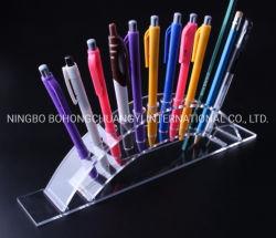 Прозрачным акриловым пластиковый держатель пера, ручку щетки организаторов дисплей для настольных ПК