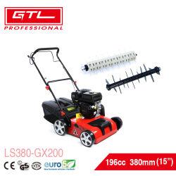 """2"""" ancho de trabajo 1 en 196cc OHV Motor 15 gasolina/gasolina Aireador/rastrillo de césped con herramienta de recolección de excavación de jardín (LS380-GX200)"""