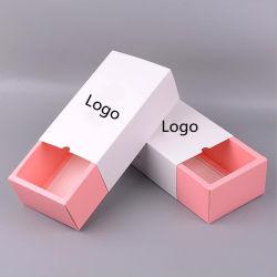 Commerce de gros logo imprimé au format personnalisé de pliage en glissant hors zone de chaussettes à l'emballage avec tiroir