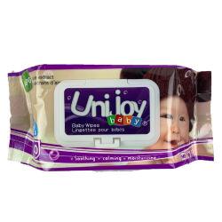 Wipes bagnati di Spunlace del Nonwoven del bambino fresco senza alcool a gettare dei campioni liberi per pulizia