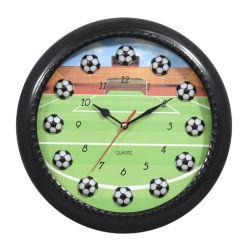 공장 직판 3D 볼 11인치 둥근 플라스틱 벽 시계 미식축구 농구 당구 월 시계