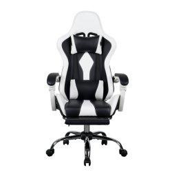 precio de fábrica personalizada vende caliente blanco de alta calidad apoyabrazos reclinables 100mm varilla Gas Silla de oficina silla de salón de juegos