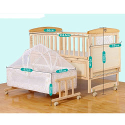 Kleines bewegliches Baby-Bett/einfaches faltbares Baby-Bett und Baby-Arbeitsweg-Bett