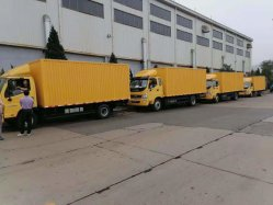 شاحنة فان لنقل البضائع/سعة 10 أطنان تحميل 10 أمتار مكعبة اليورو 5 نظام الانبعاثات القياسي للتسليم في الشاحنة
