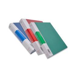 A4 10 20의 40의 60의 80의 100개의 포켓은 주문 로고를 가진 플라스틱 전시 책을 지운다