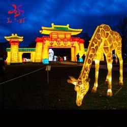 Lanterna animale di festival della renna della sosta del giardino illuminata 3D del LED