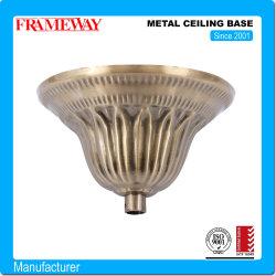 OEM Fertigung Beleuchtung Komponente Metall Decke Basis Antik Kupfer überstreichelt Stahlblech, Das Galvanisiert Bildet