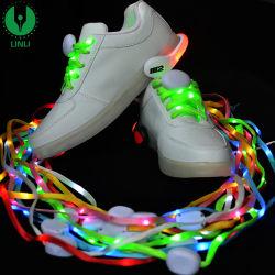 LED de mode lacets 120cm lacets de chaussure Flash Light jusqu'Glow Stick sangle Parti lacets plat Disco chaussures accessoires