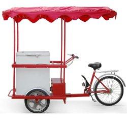 Sorvete de carga elétrica triciclo com freezer solar para a África