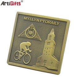 Course de métal de haute qualité personnalisés Médaille en couleur antique