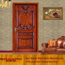純木のドア内部の固体木部屋のドア(GSP2-002)