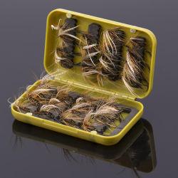 Fly рыболовных крючков приманка с окно искусственного наживка пуховые крыла крюк приманка
