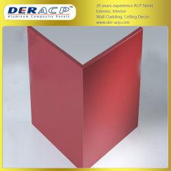 3mm/0,25 mm PE Le revêtement composite en aluminium pour les partitions ACP de la plaque