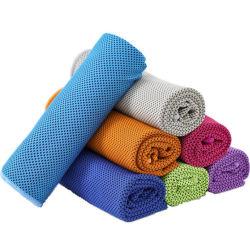 Kundenspezifisches Firmenzeichen-runde Ecken-sofortiges kaltes abkühlendes Handreisendes Sport-Gymnastik-Tuch förderndes bestes schnelles trockenes Microfiber Tuch