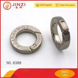 Haut de gamme de matériel en alliage de zinc le circlip pour les sacs et de souvenirs, anneau ressort personnalisé