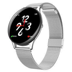 Metallkasten Bluetooth intelligente Uhr mit silbernem EdelstahlWristband Sn58