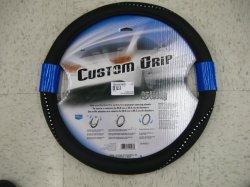 Подлинной перфорированная кожа крышки ступицы рулевого колеса автомобиля с помощью иглы