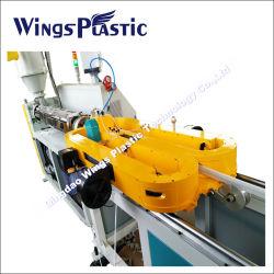 معدات الطرد البلاستيكية لخط إنتاج الأنابيب المضلع الرأسي مقاس 200-800 مم PE PP مزدوج الجدار