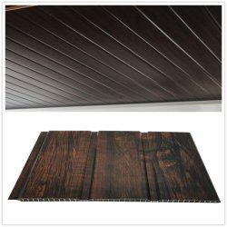 La Chine fournisseur Feuille de tuiles Conseil 3D de faux Profil de revêtement imperméable ignifugé suspendu largeur 25/30/40cm laminé PVC Panneau mural plafond décoratif