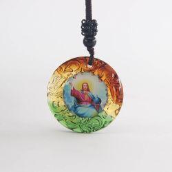 Cristal Liuli populaire Christian Bijoux et cadeaux avec 2 faces des images et de la chaîne de corde pour l'église