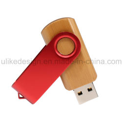 Werbeartikel Swivel maßgeschneiderte USB-Flash-Laufwerk Pen Drive Holz und USB-Stick aus Metall, USB-Festplatte