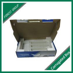 Boîte de papier ondulé de haute qualité pour l'ordinateur avec insert en mousse