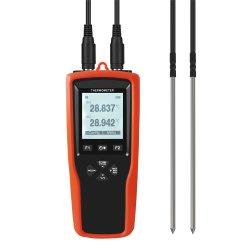 Alta precisión de grado industrial Data Logger Termómetro con sonda externa Pt100 de IDT PT1000