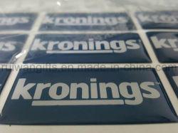 Kundenspezifischer Abdeckung-Aufkleber des Epoxidharz-3D mit dem Firmenzeichen gedruckt