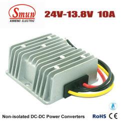 Wasserdichtes 24VDC 13.8VDC 10A 138W ZUM Gleichstrom-Gleichstrom-Dollar-Konverter
