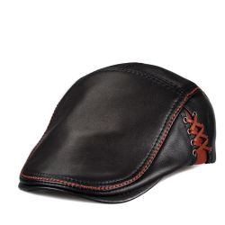 Шлемы берета кожи шлема зимы для шлема крышки Newsboy людей
