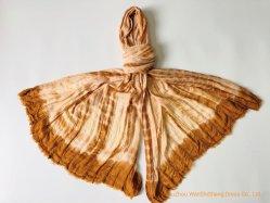 2020 nueva moda señoras TIE DYE pañuelo de algodón viscosa mantón agonizante empate
