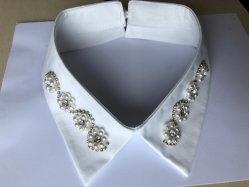 Form-handgemachter Perlerhinestone-Muffen-Ausschnitt für Hemd-Kleidung
