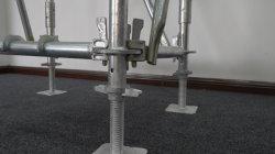 U-jefes que se utilizan en conjunción con los apoyos de acero ajustables de la Base de tornillo o Jack