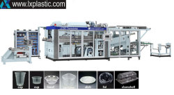 L'eau en plastique Tilt-Mold Café tasses de lait contenant des aliments plat du couvercle du bac de benne de décisions Bol de thermoformage Équipement de fabrication de formage