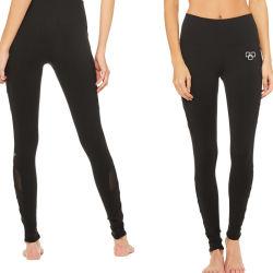 Nuevo diseño de malla lateral Pantalones de yoga polainas transpirables