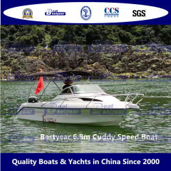 Bestyear 6.8m Vetroresina Cuddy Speed Boat per lo sport