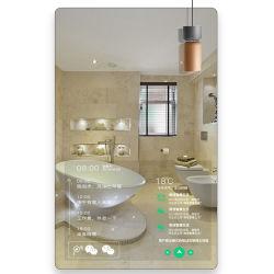 Neue Technologie-Konzept Reklameanzeige-Ideen Mupi des im Freienbekanntmachenmagischen Spiegels mit Bewegungs-Fühler