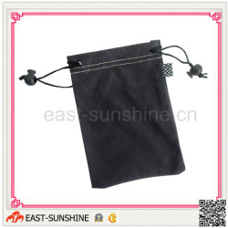 Microfiber Glass Drawsting Bags with Hot Stamped Logo Printing