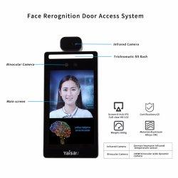8 Polegadas temperatura de detecção do Controle de Acesso do Software do Scanner de Controle de Entrada de Reconhecimento de rosto