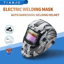 Het grote Masker van het Lassen van de Schaduw van het Hoofddeksel van de Mening Veranderlijke Zonne Auto Verdonkerende met 2 Sensoren